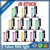 Authentic E-Taboo Disposable E Cigarette Pod Device Kit 1000 Puffs 600mAh Battery 3.5ml Prefilled Cartridge RGB Light Glowing Flash Stick Vape Pen VS Puff XXL