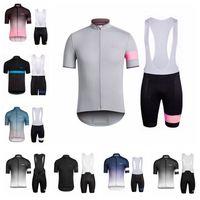 Rapha Team Mens Respirável Ciclismo Manga Curta Jersey Bib Sets Conjuntos Quick Seco MTB Bicicleta Roupas Ao Ar Livre Sportwear S073102