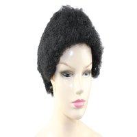 AFRO kinky вьющиеся короткие 100% бразильские My My машины для волос человека сделали парик для черных женщин натуральный цвет