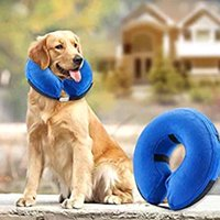 Dog Collars & Leashes Pet Swimming Collar Anti Bite Safety Inflatable Neck Float Dogs Puppy Protector LX9C