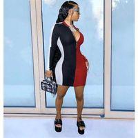 FashionBlingFluorescent Balıkçı Yaka Trend Etek Uzun Bayan Moda Kollu Bayan Elbise Elbise Kadınlar için Seksi Balıkçı Yaka #lrvm