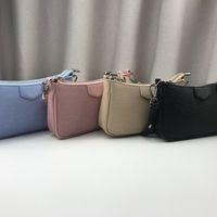 Klassische Deluxe Frauen Echtes Leder Taschen Geldbörse Halbmond Bag Match Stoff Fluoreszierende Tasche Handtaschen Brieftasche Totes Crossbody Geldbörsen
