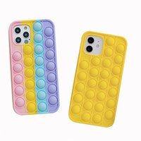 실리콘 젤 감압 재미있는 휴대 전화 케이스 다채로운 노란색 2 색 IP 12 Pro Max 11 XR에 대 한 커버 케이스