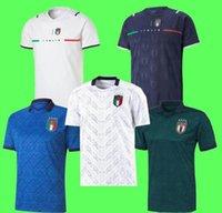 Italia 2021 Soccer Jersey Home Away Jorginho El Shaarawy Bonucci Insigne Bernardedeschi Hombres adultos Tamaño S-4XL