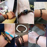Kimter Natural Stone Tiger Eye Beads Bracelet Bangle 10 Styles High Quality Charm Yoga Energy Bracelets for Women Men Jewelry Gifts X15A