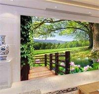 럭셔리 유럽 현대 HD 3D 트리 풍경 배경 벽 벽화 3D 벽지 TV 배경에 대 한 3D 벽지 1455 v2