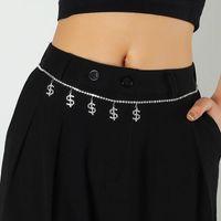 Belts Dollar Sign Rhinestone Waist Chain Woman Beach Charm Bikini Belly Sexy Body Jewelry Accessories JK Skirt With Dress