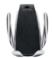 S5 Универсальный автоматический зажимное беспроводное автомобильное зарядное устройство держатель приемника крепление смарт-датчика 10W быстрая зарядка зарядных устройств для телефонов iPhone Samsung