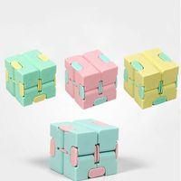 Niños adulto adulto descompresión juguete infinito mágico cubo cuadrado rompecabezas juguetes aliviar el estrés divertido juego juego cuatro esquina laberinto juguetes