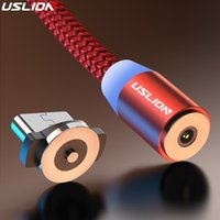 USLION 3M Magnetic Micro USB Cable For Samsung Android Mobile Phone Type-c Charging iPhone XS XR 8 Magnet Charger Wire Cord