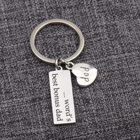 Keychains Dad Charm Key Ring Pendant Heart Bonus Keychain Gifts For Stepfather Daddy Creative Significant Gift Bag Jewelry