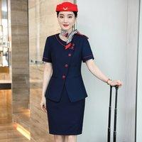 De luxe vêtements vêtements femme hôtesse de l'hôtesse uniforme gilet professionnel bijoux hotel réception bureau salon salon département Outillage