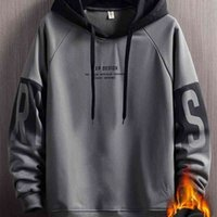 Hoodies Men's hooded fleece age season popular on the new 2021 loose trend joker clothes couples coatat ins-.com