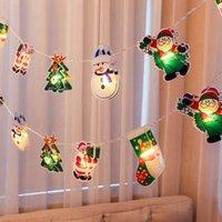 Snowman Árvore de Natal LED String Luzes Decoração Home Xmas Ornaments Ano Novo