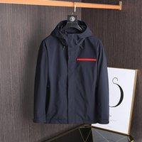 Männer Jacken Frühlings- und Herbstjacke Marke Mantel Outdoor Sun Proof Windjacke Sonnencreme Kleidung Wasserdichte Mit Kapuze Beiläufige Plus Größe