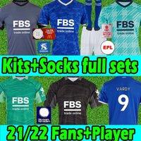 21/22 Leicester Futbol Formaları FA Şampiyonlar Wembley 2021 2022 Şehir Vardy Maddison Camiseta De Fútbol Erkekler Kitleri + Çocuk Kitleri Tam Setleri Maillot de Futbol Gömlek