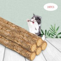 10x Natural Wood Funny Cat Stick Teeth Cleaning Chewing Catnip Molar Brush Toy For Pet Toys