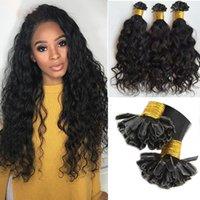 Estensioni naturali dei capelli dei tips dei capelli senza trucco dei capelli dei capelli brasiliani Punta 1G / Strand 100nds / lot Machine Make
