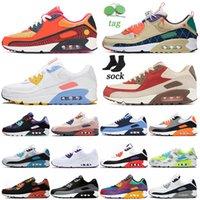 Nike air max 90 Classic 90s Size us 12 Scarpe da corsa da donna da uomo New Good Game Supernova Moss Green Trainers Runners Designer Sports Sneakers Eur 46