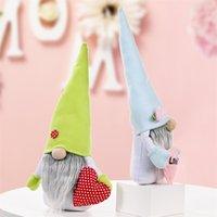 Día de la Madre Gnomos Bunny sin rostro Doll Muñeca Conejo Peluche Toys Amor Mamá Niños Regalo Feliz Partido de Pascua Decoración del hogar 1375 V2