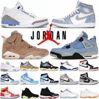 Nike Air Jordan 4 أحذية رجالي كرة السلة 4S Off Off White Oreo Sail Black Cat University Blue Travis Scott 1 1S UNC 3 3S Jordans Sneakers 6 6S 11 11S 13 المدربين جوردن