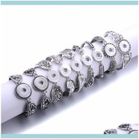 Charm Jewelry Magnetic Button Bracelet For Women Fit 18Mm Buttons Jewelry Metal Snap Bracelets Bangles Drop Delivery 2021 D83Qx