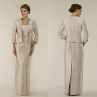 Mother Of Bride Dresses With Jacket Long Sleeves Delicate Sash Mother Of The Bride Floor Length Party Prom Dresses