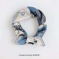 100% чистый шелковый квадратный шарф 52 см. Женщины роскошные сумки печатают шеи шарфы для женщин модные ручной одежды Млажные шарфы бандана