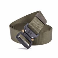 Army Tactical Belt Nylon Belts Men Training Metal Automatic ...