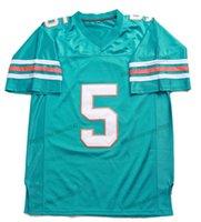 Navire de US Ray Finkle # 5 Ace Ventura Jersey Football Jersey Pet Decective Movie Tous les maillots de qualité supérieure verts cousus