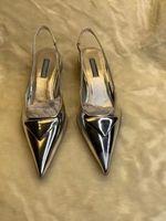 Bahar ve Yaz Yeni Ürünler Klasik Şeker Renk kadın Yüksek Topuk 3.0 cm Patent Deri Sivri Elbise Ayakkabı Lüks Işık Ruj Alt
