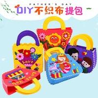 Creative student DIY manual educational material handbag kindergarten opening gift practical