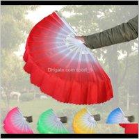 Danza cinese Seta Weil 5 Colori disponibili per Bianco Bone Bone Pieghevole Pieghevole Fan Party Favore LJJA34992 CLMCU BGMLJ