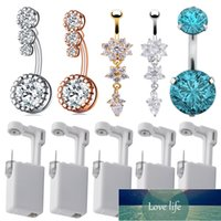 Disposable Sterile Ear Navel Belly Piercing Unit Cartilage Tragus Helix Gun NO PAIN Piercer Tool Machine Kit Stud Body Jewelry