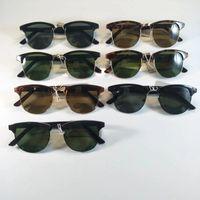 Солнцезащитные очки наполовину кадра стеклянные солнцезащитные очки женщин мужчины на открытом воздухе солнцезащитные очки вождение UV400 дизайнер бренда очки Tortoiseshell G15
