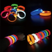 Bangle Outdoor Sports LED Bracelet Luminous Cycling Night Running Armband, Double-sided Exposure Wristband Fashion Bangles