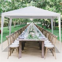 US stockg 3 x 3m белые арбуры водонепроницаемая палатка со спиральными трубками PE ткань железа железа для парковки свадьба кемпинга