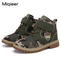 Miqieer зимние дети плюшевые теплые камуфляжные кроссовки детские повседневные ботинки лодыжки мальчики водонепроницаемые нескользящие кожаные сапоги