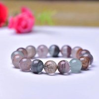 Wholesale Color Ghost Natural Crystal Bracelets 12mm Round Beads Hand String For Men Women Stone Bracelet Jewelry Beaded, Strands