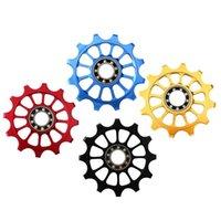 دراجة دراجة ناريهايلز chainwheels دراجة الخلفية derailleur دليل عجلة الألومنيوم سبائك + السيراميك mtb 12t بكرة الرول ل اكسسوارات الدراجات