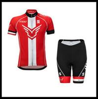 Equipo de fieltro ciclismo manga corta jersey maillot shorts sets pro ropa montaña transpirable carreras deportes bicicleta suave piel que se puede mezclar 51276