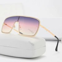 New fashion designer sunglasses connected lens big size all frame with small star avant-garde popular goggle High quality with box
