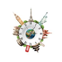 Wall Clocks PAG STICKERDIY Fashion High-Grade Clock Decal 3D Art Easy To Install And Remove The Sticker