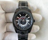 TopSelling High Quality Men Sky Wristwatches 326934 Pasek czarny stalowy 2813 Automatyczny ruch GMT Ring Ring Command 42mm Męskie Zegarki męskie