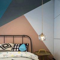 LED bedside chandelier Pendant Lamps modern minimalist study room restaurant crystal lamp home decoration Indoor lighting