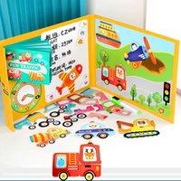 3D Livro Magnético Crianças Puzzles Jigsaw Brinquedo Cérebro Treinamento Jogo Aprendizagem Feitiço Puzzle Brinquedos Educativos para Crianças Girls Xmas Presente