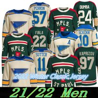 97 Kirill Kaprizov 2022 Kış Klasik Jersey Minnesota Wild 22 Kevin Fiala 24 Matt Dumba St. Louis Blues 90 Ryan O'Reilly 50 Binnington 91 Tarasenko Hokey Formaları