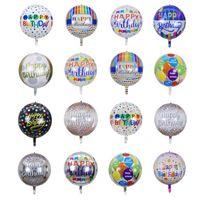 22 pouces rond ballon joyeux anniversaire décoration de fête transparente 20 / paquet