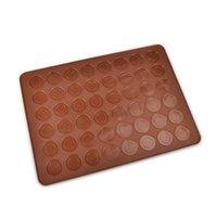 Macarons in silicone Scheda Mat da forno Forno pasticceria da forno 38x28cm - 48pcs Cerchi Singolo lato