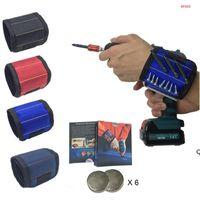 Forniture da giardino Magnetica Polsino Pocket Tool Belt Cintura Borsa Borsa Borsa Portabicchieri Holding Tools Pratico Forte Chuck Toolkit DHD6121
